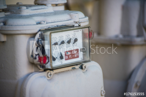 How to read or clock a gas meter